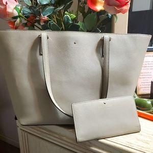 Sale 2pc Kate Spade tote & wallet set NICE!!